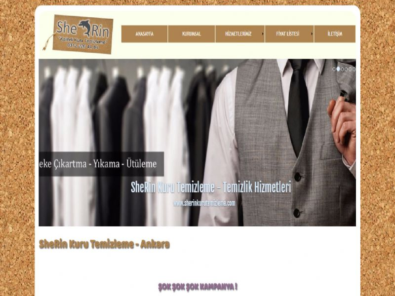 SheRin Kuru Temizleme - Ankara internet sitesi