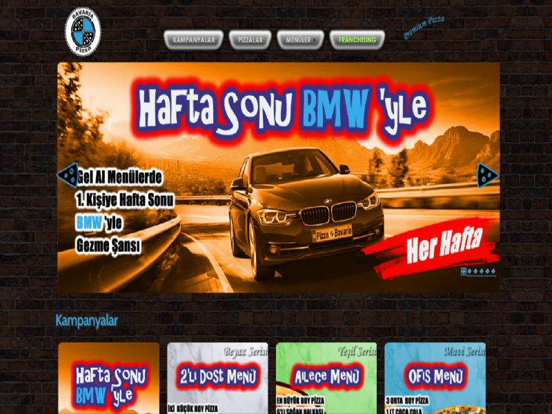 Pizza Bavaria - Manisa - Balıkesir internet sitesi
