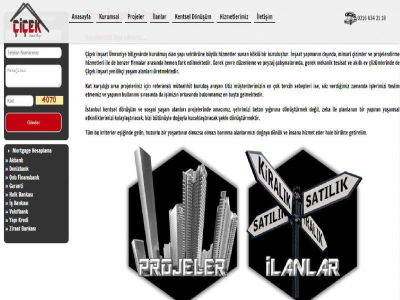 Çiçek Proje İnşaat Zeki Çiçek - İstanbul web sitesi