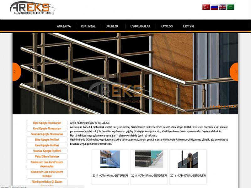 Areks Aluminum Handrail - İstanbul internet sitesi