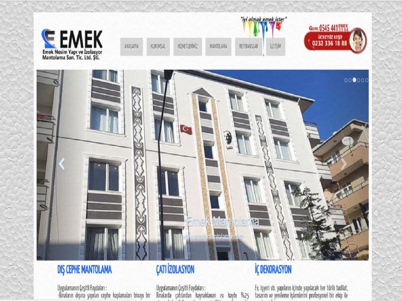 Emek Mantolama - İzmir web sitesi