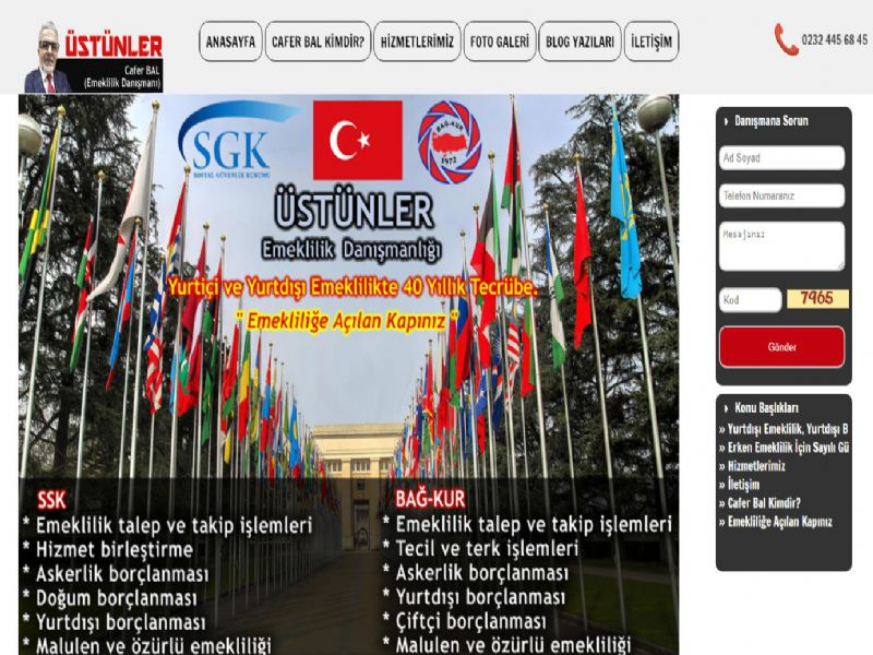 Üstünler Emeklilik - İzmir web sitesi