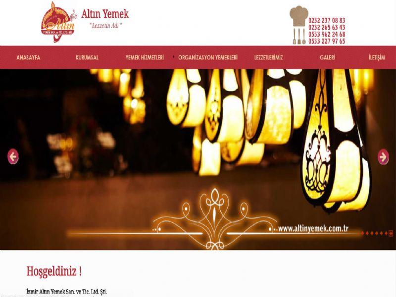 Altın Yemek - İzmir web sitesi
