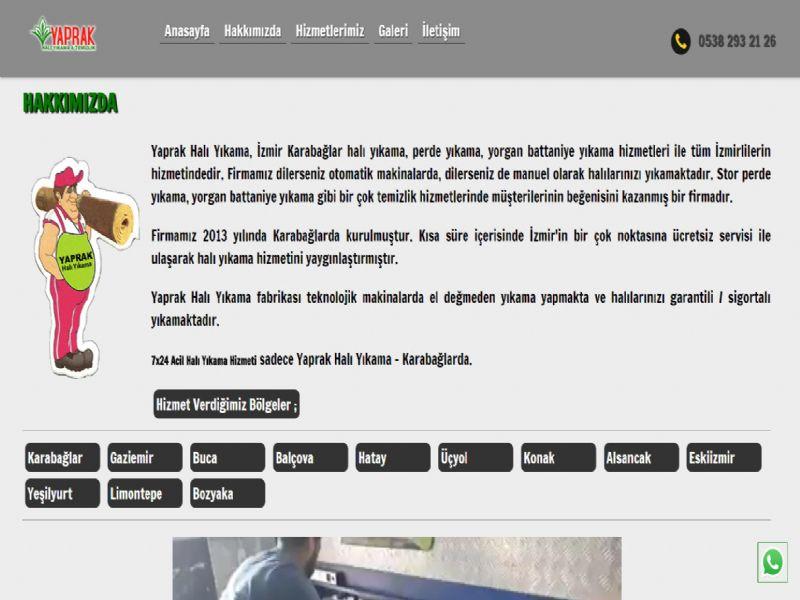 Yaprak Halı Yıkama - İzmir internet sitesi