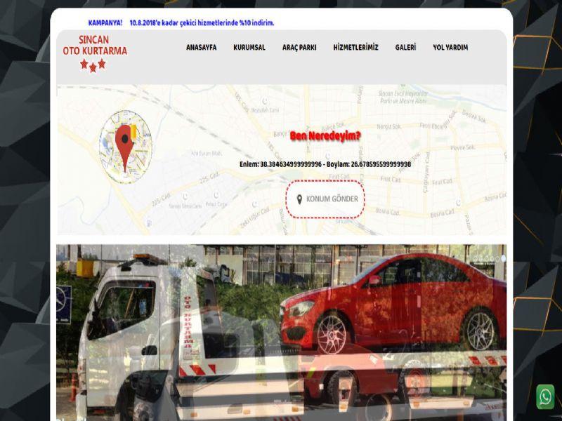 Sincan Oto Kurtarma - Ankara internet sitesi