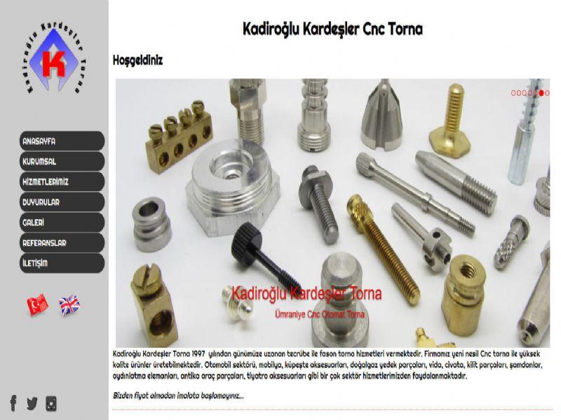 Kadiroğlu Kardeşler Torna - İstanbul internet sitesi