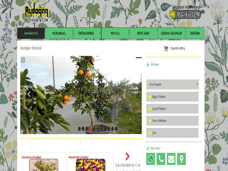 Aydoğan Botanik - İzmir internet sitesi