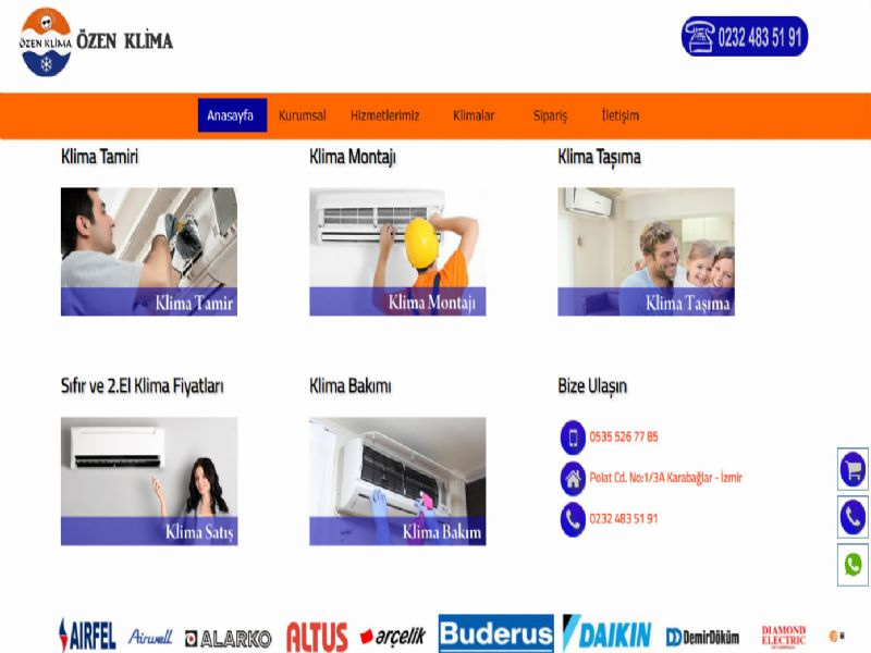 Özen Klima Servisi - Antalya internet sitesi