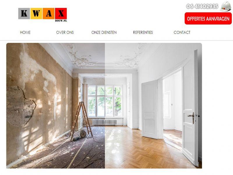Kwax bouw Stukadoors - NEDERLAND internet sitesi