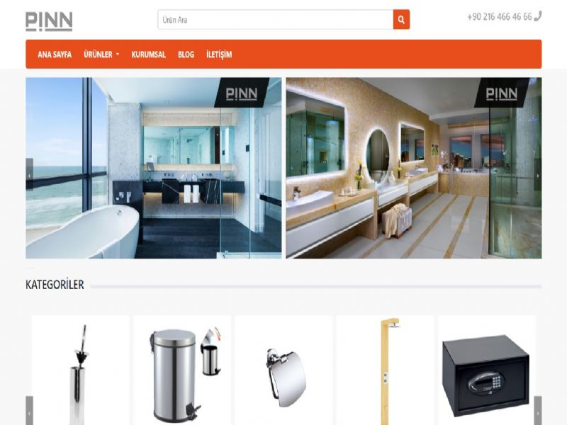 Pinn. Otel ve Banyo Aksesuarları - İstanbul internet sitesi