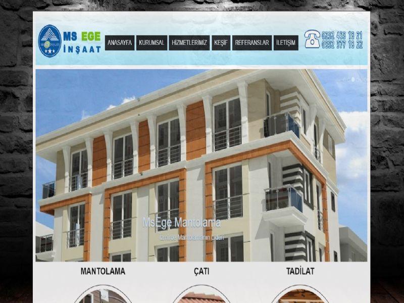 Ms Ege Mantolama Tadilat - İzmir web sitesi