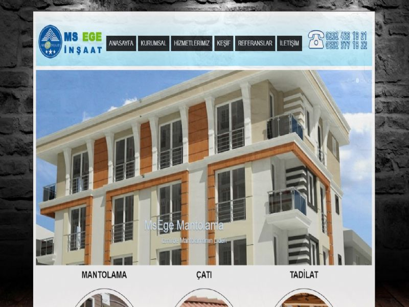 Ms Ege Mantolama Tadilat - İzmir internet sitesi